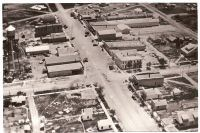 An old black and white aerial photo of Winona